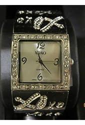 XOXO Women's XO5115 Silver-Tone Half Cuff and Half Bracelet Watch