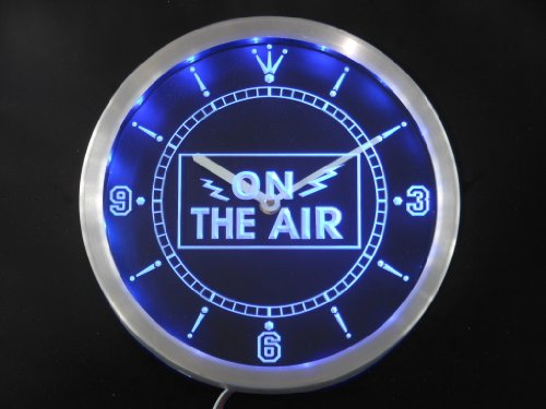 nc0263-b On the Air Neon Sign LED Wall Clock