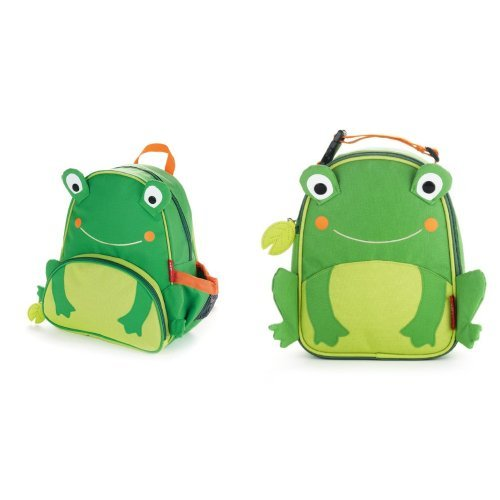 Skip Hop Zoo Backpack and Lunchie Set, Frog - 1
