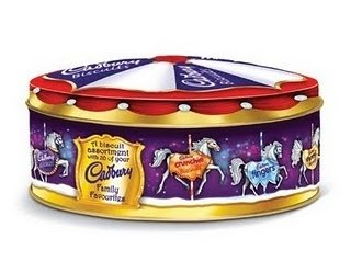 Cadbury Christmas Carousel Biscuits Tin 400g