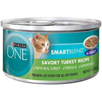 Purina One Smart Blend Savory Turkey Braised In Gravy Canned Cat Food