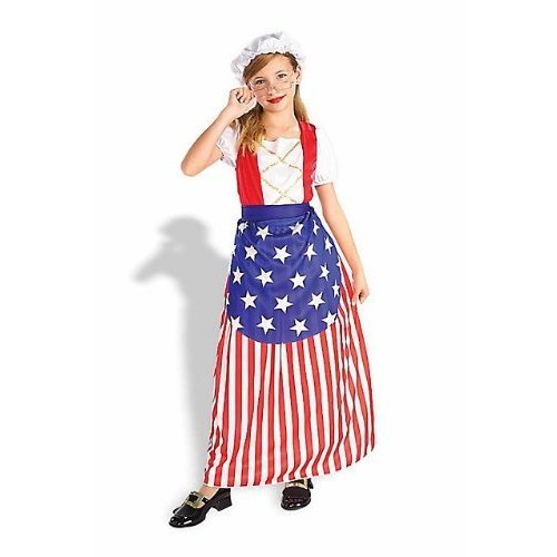 Forum Girl's Betsy Ross Costume Child M 8-10 Red and Blue
