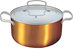 Alda Ceramic Coating Copper Finish Casseroled 24 cm + Lid Cookware