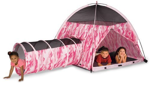 Pacific Play Tents Pink Camo Tent & Tunnel Combo #30470 by PACIFIC PLAY TENTS