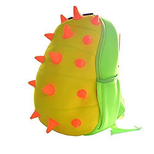 Yisibo-Enfants-Sac--dos-Maternelle-Sac--dos-Environnement-3D-Cartoon-Animal-Mignon-Cartable-Zoo-Randonne-Voyage-Camping-Toddler-Sidekick-Paquet-Yellow-DinosauLxWxH-24-x-19-x-325-cm