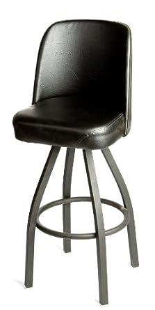 "Barstool with Black Vinyl Bucket Seat, 18"" Width x 45"" Height x 16"