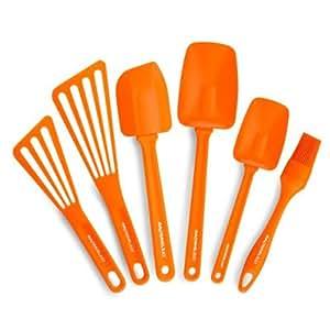 Rachael Ray Tools 6-Piece Utensil Set, Orange