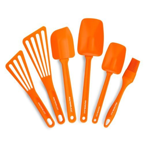 Rachael Ray Tools 6-Piece Utensil Set, Orange