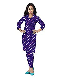 Banjara Women'S Cotton Bandhani Unstitched Dress Material (Rf25 _Royal Blue_Free Size)