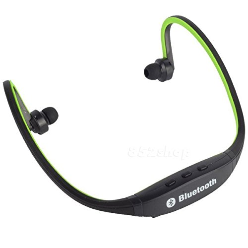 US Shipping Green Bluetooth Wireless Headset Stereo Headphone Earphone Handfree Sport Universal (Bluetooth Smart Module compare prices)