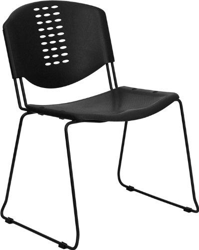 Flash Furniture RUT-NF02-BK-GG Hercules Black Plastic Stack