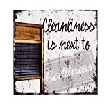 Large Cleanliness Is Next To Godliness Washboard Sign