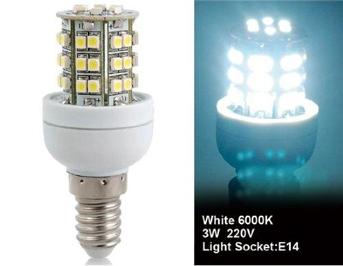 Wrui3528-48L-220V 3W E14 48 X 3528Smd White Led Corn Bulb