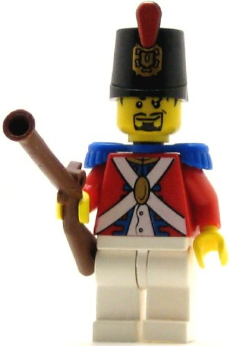 LEGO Pirates Minifig Imperial Soldier II Shako Hat Decorated Black Goatee (Lego Pirates Imperial Soldiers compare prices)