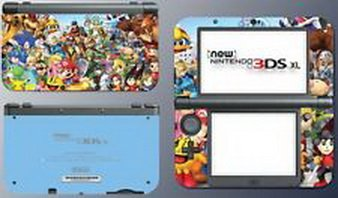 Blazers Skins - Super Smash Bros Mega Man Kirby Sonic Mario Game Decal Skin New Nintendo 3DS XL (Kirby Sonic compare prices)