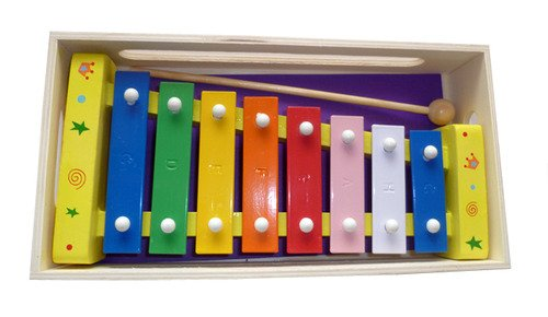 Childrens Wooden Musical Instrument - Xylophone - presented in w price comparison