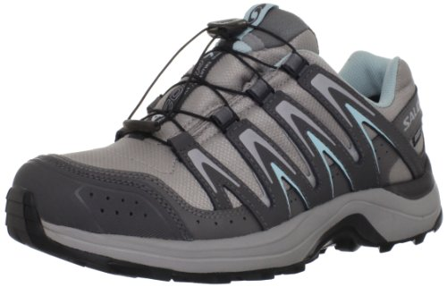 Salomon Women's XA Comp 7 WP Trail Running Shoe,Aluminum/Detriot/Frosty Blue,9 M US