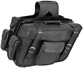 River Road Zip-Off X-Large Slant Saddlebags Braided - 107741