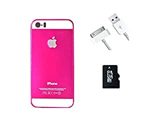 METLY Back cover for Apple IPHONE 4S With Data Cable and Memory Card 32GB Pink