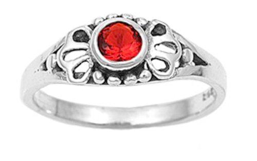 Girls July Birthstone Ring/ Size 4