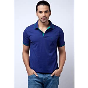 Peter England Polo Tshirts Navy Blue|M