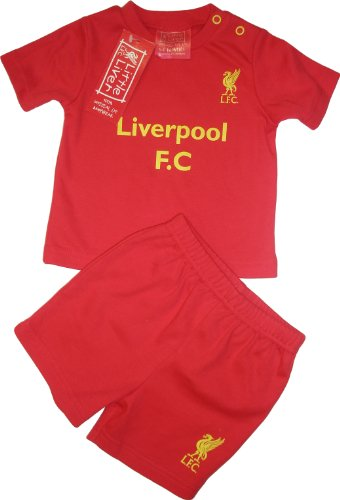 Brecrest Babywear Liverpool Football Club Core T-Shirt and Shorts (Red, 6 - 9 Months)