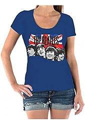 The Beatles Faces & Union Jack Juniors T-shirt