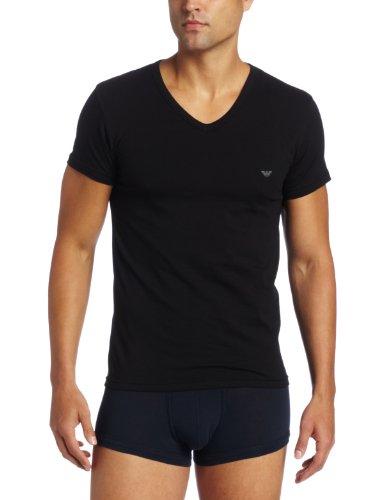 Emporio Armani 阿玛尼  男士V领弹力棉T恤,2色可选图片