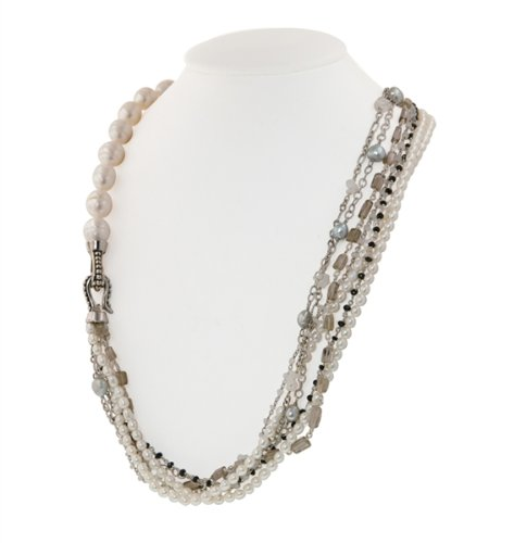 Bohemian Multi-Strand Pearl Necklace