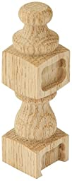 Platte River 800986, Wood Specialties, Spindles & Finials, Oak Connector Finial, 2 Each