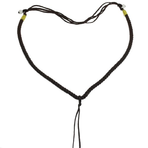 Rosallini 5 Pcs Dark Brown Nylon Braid No Pendant Necklace String Chain