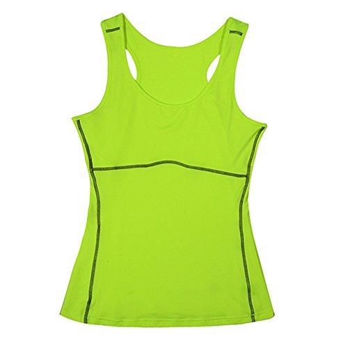 Toptie Women'S Athletic Compression Yoga Tank Top Lime-Xl