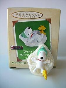 Hallmark Keepsake Ornament Winter Fun With Snoopy Clip-On Miniature Collector's Series (2003) QXM4869