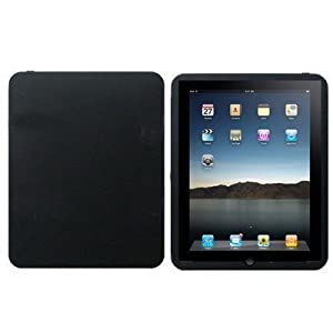 First Generation Apple iPad Black Silicone Case with Free Screen Protector