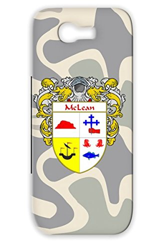 Tpu Surname Countries Flags Last Name Gaelic Irish Mclean Celtic Cities Scotland England Family Crest Shield Wales Coat Of Arms Ancestry Heritage Ireland White Protective Hard Case For Sumsang Galaxy Note 2 Mclean Mantled front-902707