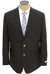 Calvin Klein Mens Solid Navy Blue Slim Fit Wool Sport Coat Blazer