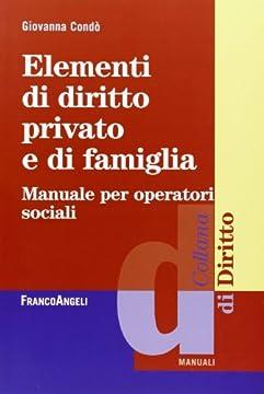 Cover Elementi di diritto privato e di famiglia. Manuale per operatori sociali