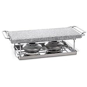 hot stone grill with burner home kitchen. Black Bedroom Furniture Sets. Home Design Ideas