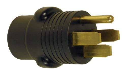 Prime RVAD5030 RV Adapter, 50 Amp Plug and 30 Amp Connector, Black