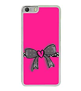 Heart Bow 2D Hard Polycarbonate Designer Back Case Cover for Micromax Canvas Knight 2 E471