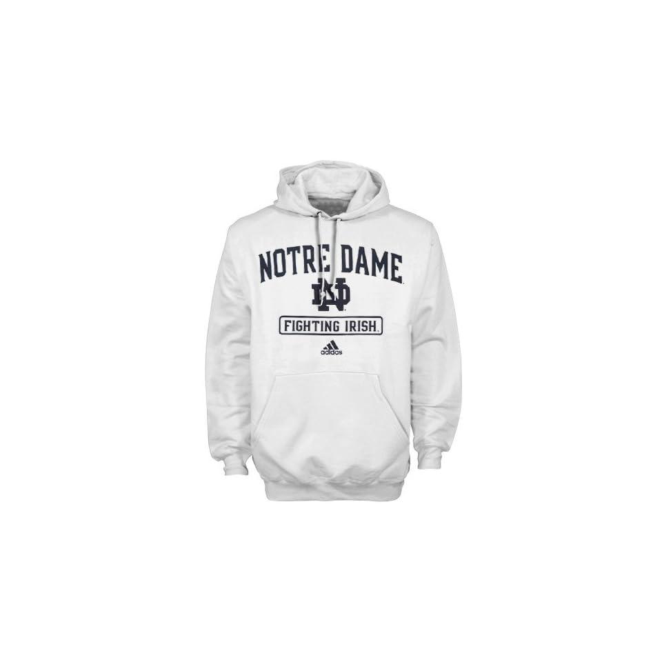 adidas Notre Dame Fighting Irish White Practicewear Hoody