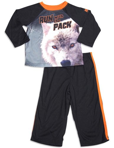 Animal Planet - Little Boys Long Sleeve Pajamas, Black 29952-4T front-960164