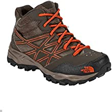 The North Face Boy39s Hedgehog Hiker Mid Waterproof Boot 2 Coffee BrownValencia Orange