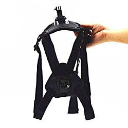 Andoer Dog Harness Chest Fetch Strap with 2 * Base Mounts for GoPro Hero 4 3+ 3 2 1