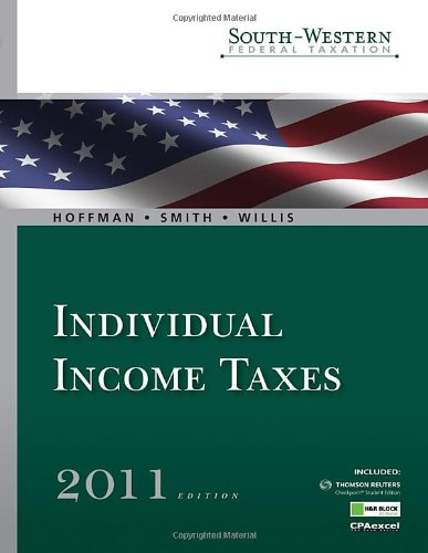 South-Western Federal Taxation 2011: Individual Income Taxes, Professional Version (with H&R Block @ Home(TM) Tax Preparation Software CD-ROM)