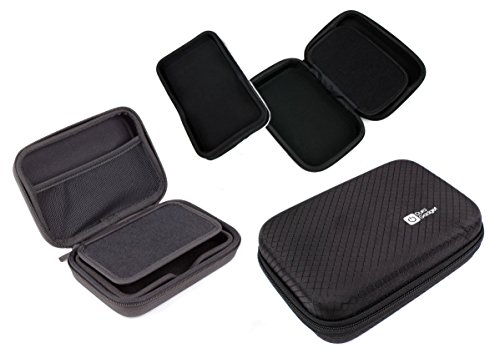 DURAGADGET Exclusive 5-inch Hard Shell EVA Case in Matte Black for the New Garmin Nuvi 2599LMT-D 5