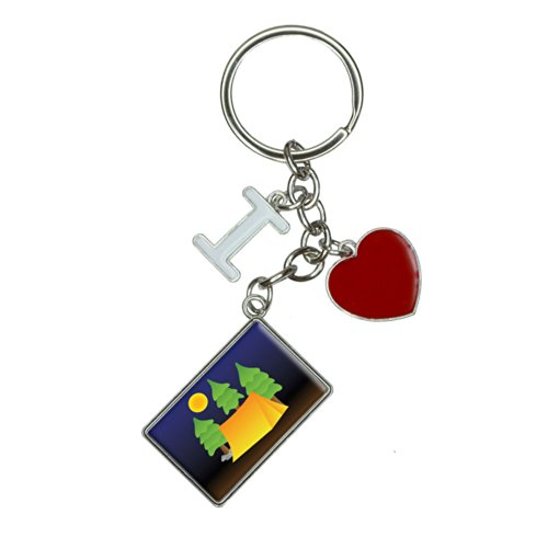 I Heart Tent Camping Keychain made our list of camping gifts couples will love and great gifts for couples who camp