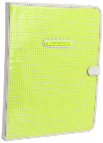 Juicy Couture Sequin iPad Case Cover Yellow Notebook Sleeve