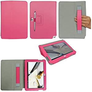 ProCase Galaxy Note 10.1 Case Ultra Slim Folio Stand Leather Case Cover for Samsung Galaxy Note 10.1 Inch (Flip Stand Case, Pink)