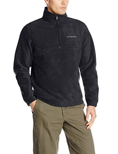 Columbia Sportswear Men'S Dotswarm Half Zip Jacket, Black, Large Omni-Heat Thermal Reflective Half Zip Fleece Imported From China
